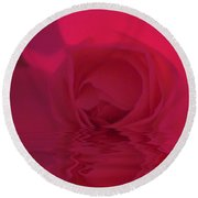 The Temple Rose Round Beach Towel