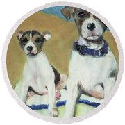 The Terriers Round Beach Towel