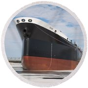 The Texas Cargo Ship Round Beach Towel