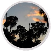 The Three Minarets Round Beach Towel