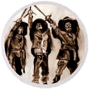 The Three Musketeers Round Beach Towel
