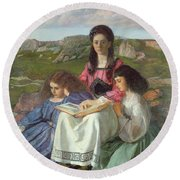 The Three Sisters Of Dean Liddell Round Beach Towel