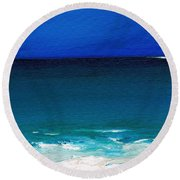 The Tide Coming In Round Beach Towel