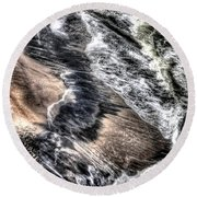 The Tide From Above Round Beach Towel