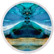 The Time Traveler - Surreal Fantasy Art By Sharon Cummings Round Beach Towel