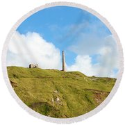 The Tin Mines Of Cornwall Round Beach Towel