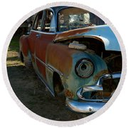 The Tired Chevy 3 Round Beach Towel