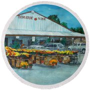 The Tomatoe Vine Round Beach Towel