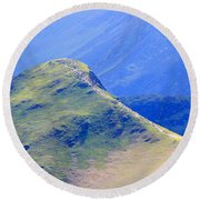 The Top Of Catbells In The Lake District Round Beach Towel