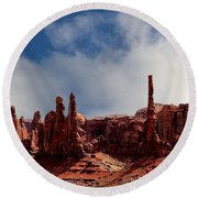 The Totems Monument Valley Round Beach Towel