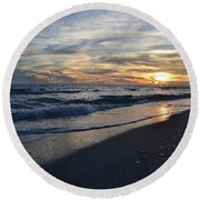 The Touch Of The Sea Round Beach Towel