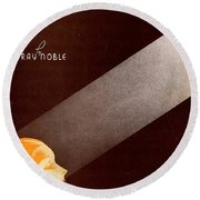 The Touch Of Your Lips Round Beach Towel