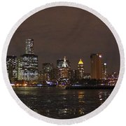 The Tower And The Bridge Round Beach Towel