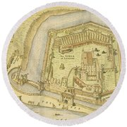 The Tower Of London, From A Survey Made Round Beach Towel