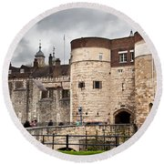 The Tower Of London Uk The Historic Royal Palace And Fortress Round Beach Towel