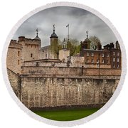The Tower Of London Uk The Historic Royal Palace Round Beach Towel
