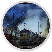 The Train Round Beach Towel