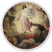 The Transfiguration Of Christ Round Beach Towel