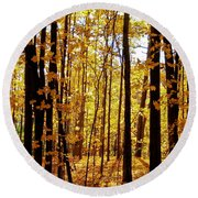 The Trees Through The Forest Round Beach Towel