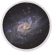 The Triangulum Galaxy Round Beach Towel by Reinhold Wittich