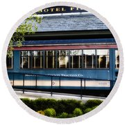 The Trolley Stop - Hotel Fiesole Round Beach Towel