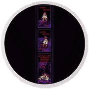 The Truth About Humpty Dumpty Round Beach Towel