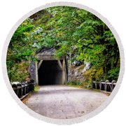 The Tunnel On The Scenic Route Round Beach Towel