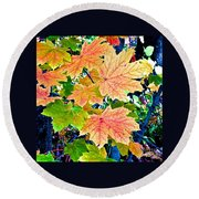 The Turning Leaves Round Beach Towel