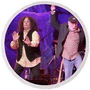 The Turtles - Mark Volman And Howard Kaylan Round Beach Towel