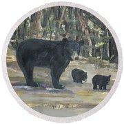 Cubs - Bears - Goldilocks And The Three Bears Round Beach Towel