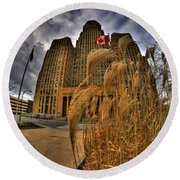 The Twisting Winds Of The Square Round Beach Towel