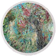 The Two And The Nature Round Beach Towel