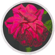 The Ultimate Red Rose Round Beach Towel