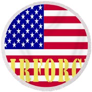 The United States Airforce Round Beach Towel