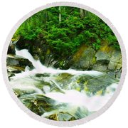 The Upper Paradise River Round Beach Towel