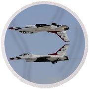 The U.s. Air Force Thunderbirds Round Beach Towel