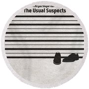 The Usual Suspects Round Beach Towel