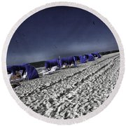 The Vacationers 1 Round Beach Towel by Madeline Ellis