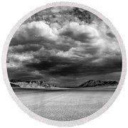 The Valley Of Shadows Round Beach Towel