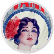 The Vamp Round Beach Towel