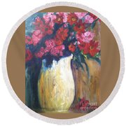 The Vase Round Beach Towel