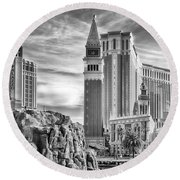 The Venetian Resort Hotel Casino Round Beach Towel