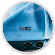 The Vette Round Beach Towel
