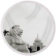 The Victoria Memorial In Calcutta Round Beach Towel