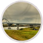 The View From Crown Point New York Round Beach Towel
