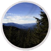 The View From Nf 7605 No 1 Round Beach Towel