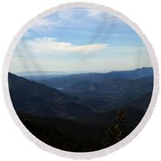 The View From Nf 7605 No 2 Round Beach Towel