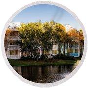 The Villas Of Walt Disney World Round Beach Towel