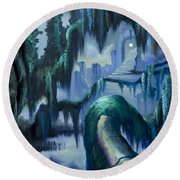 The Vine And The Alter Round Beach Towel