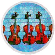 The Violin Store Round Beach Towel